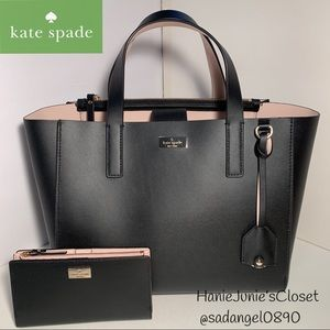 KATE SPADE SET SMALL NELLE PUTNAM DRIVE TOTE+WALLE